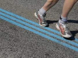 pies corriendo
