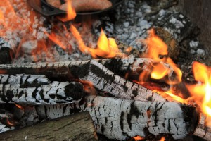 wood-catching-on-fire